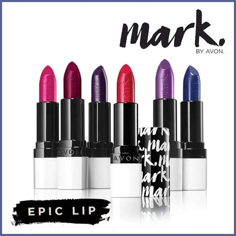 Avon Mark Epic Lip Lipstick - Long Lasting With Built In