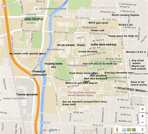 A Judgmental Map of Ohio State University