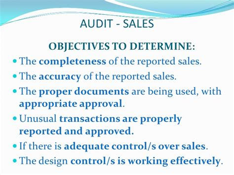 Sales Audit, Sales Cycle, Collection Cycle, Audit sales