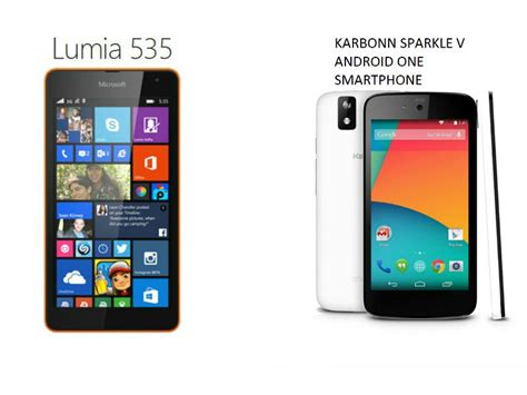 Microsoft Lumia 535 vs Android One: Which is the better