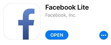 Facebook Lite App for iOS Launched, Now Available for