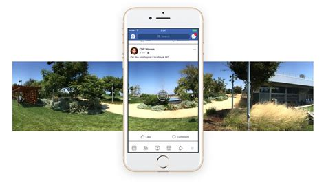 Facebook now lets you shoot 360-degree photos inside its