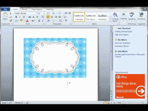 How to create labels with clipart in Word - YouTube