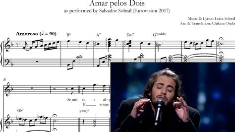 Amar pelos Dois (English; piano sheet music w chords