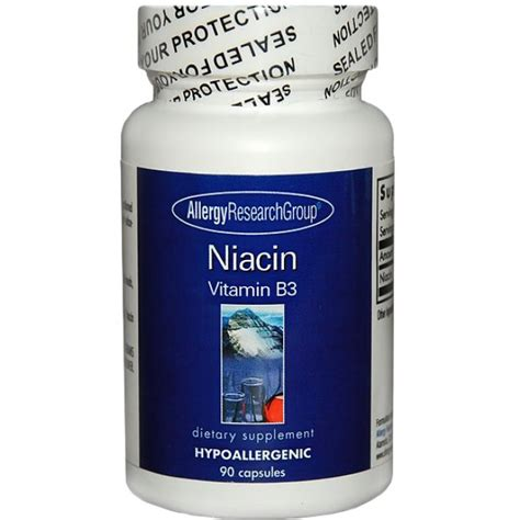 Allergy Research Group, Niacin (Vitamin B3) 90 Veggie Caps