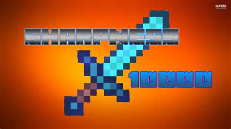 Minecraft: How to get Sharpness 10000 Sword - YouTube