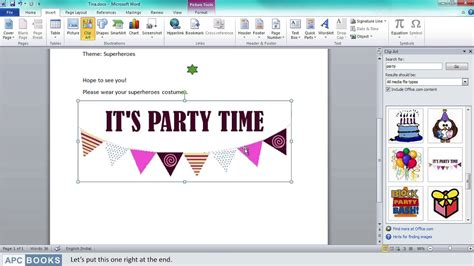 Microsoft Word 2010- Inserting Clipart - YouTube