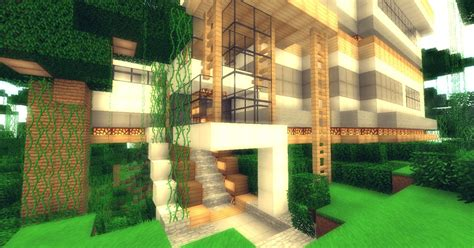 Jungle modern house-[FULL FURNISHED] Minecraft Map