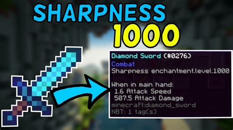 How To Get a Sharpness 1,000 Sword In Minecraft! 1