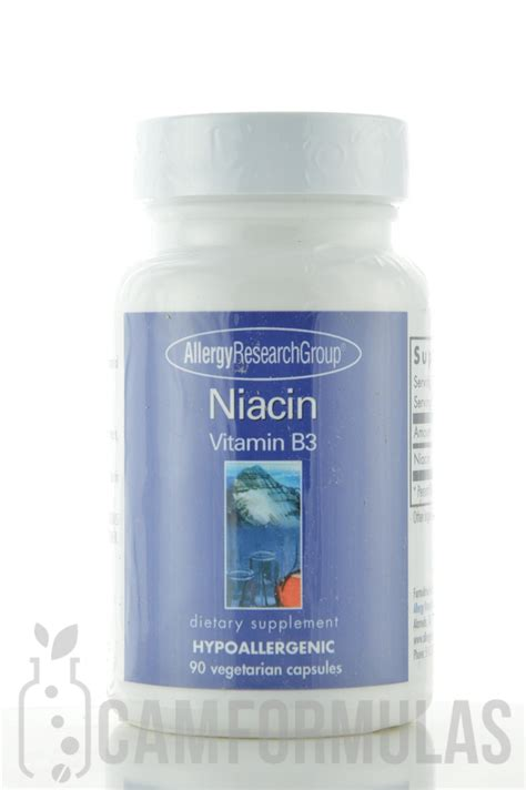 Niacin Vitamin B3 250 mg 90 vegetarian capsules - Allergy