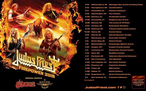 Judas Priest Set to Launch Firepower 2018 North American