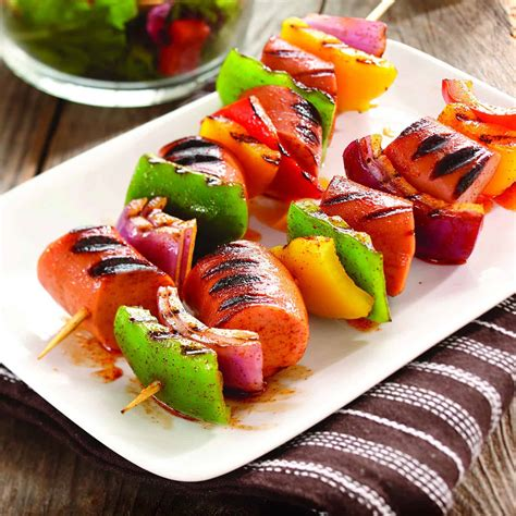 Smoked Sausage Kebobs | Home Trends Magazine