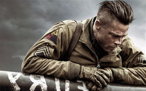Brad Pitt In Fury Movie, HD Movies, 4k Wallpapers, Images