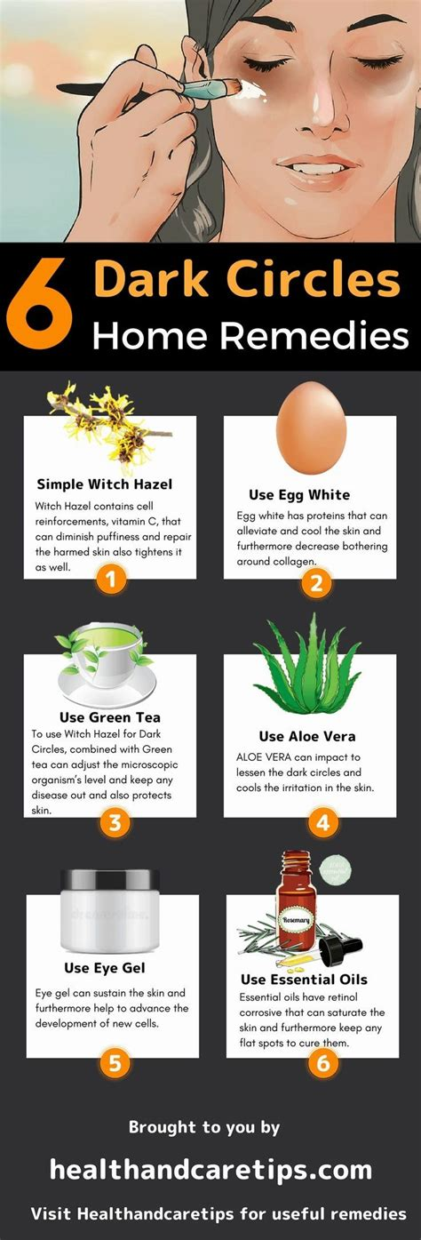 witch hazel for dark circles infographic #beauty life